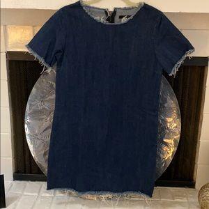 Forever 21 denim frayed dress, S, never worn